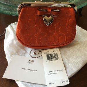 Coach business/credit card case. New with tags.